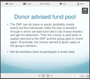 donor advised pool